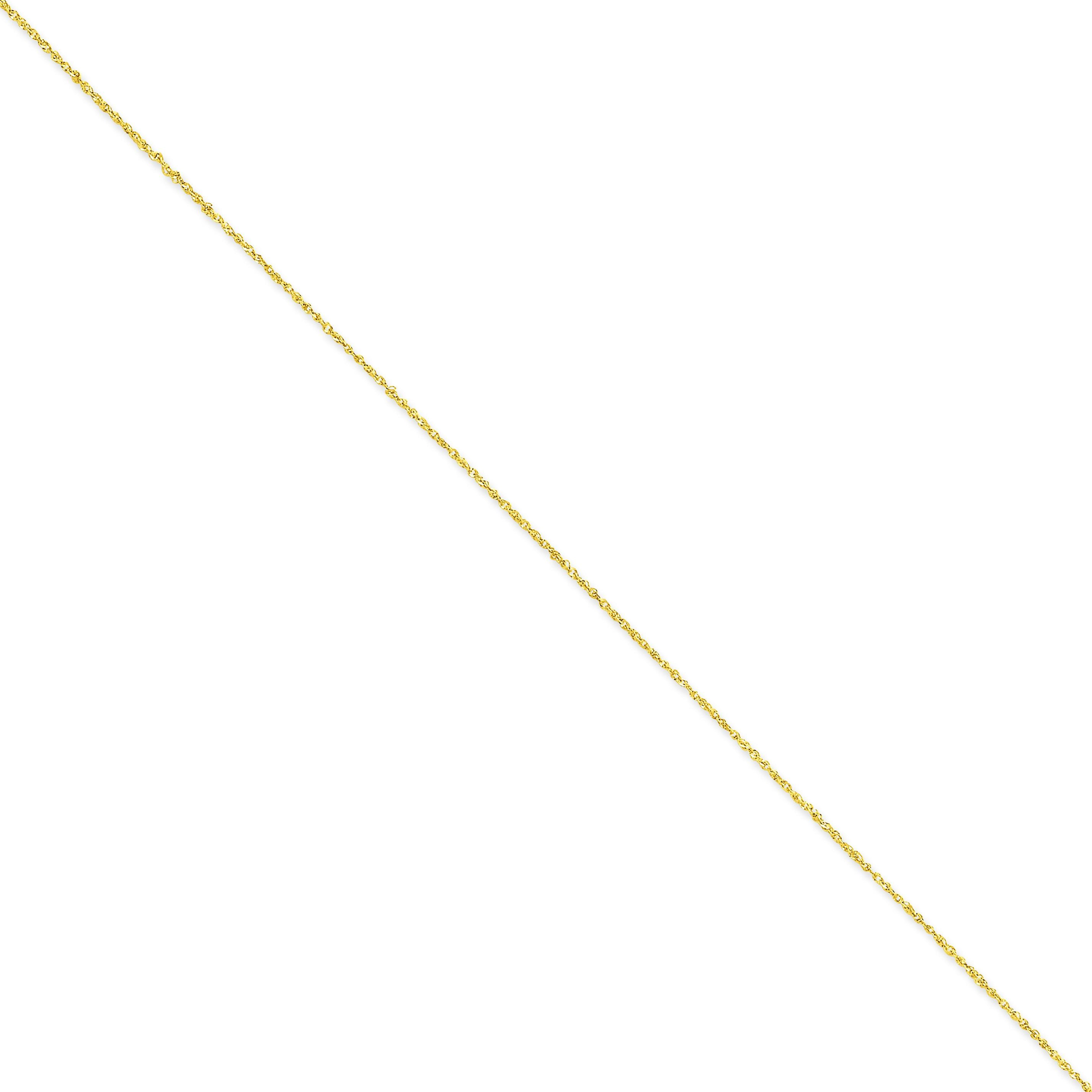 14k Yellow Gold 14 inch 1.10 mm  Ropa Choker Necklace