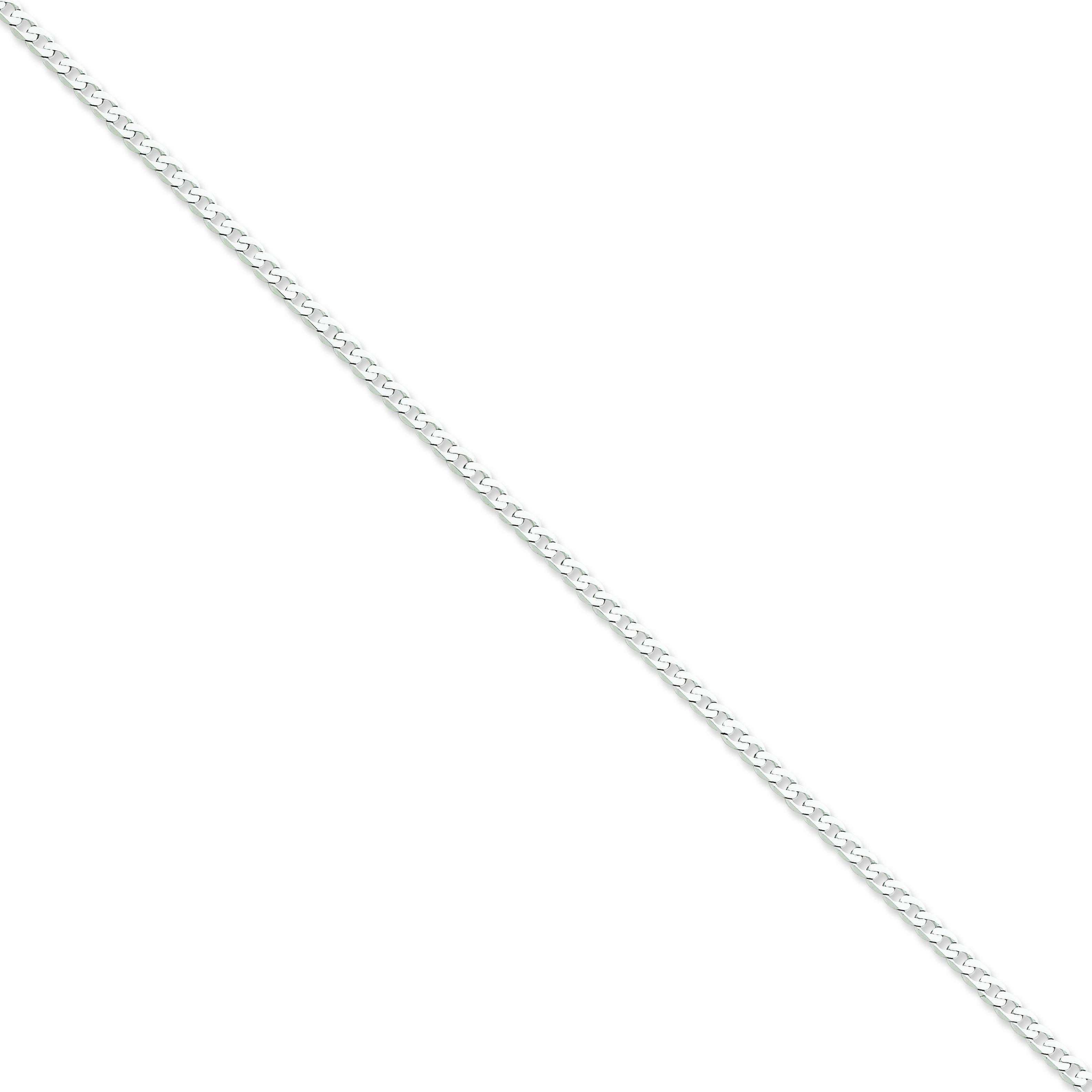 14k Yellow Gold 8 inch 2.90 mm Flat Curb Chain Bracelet