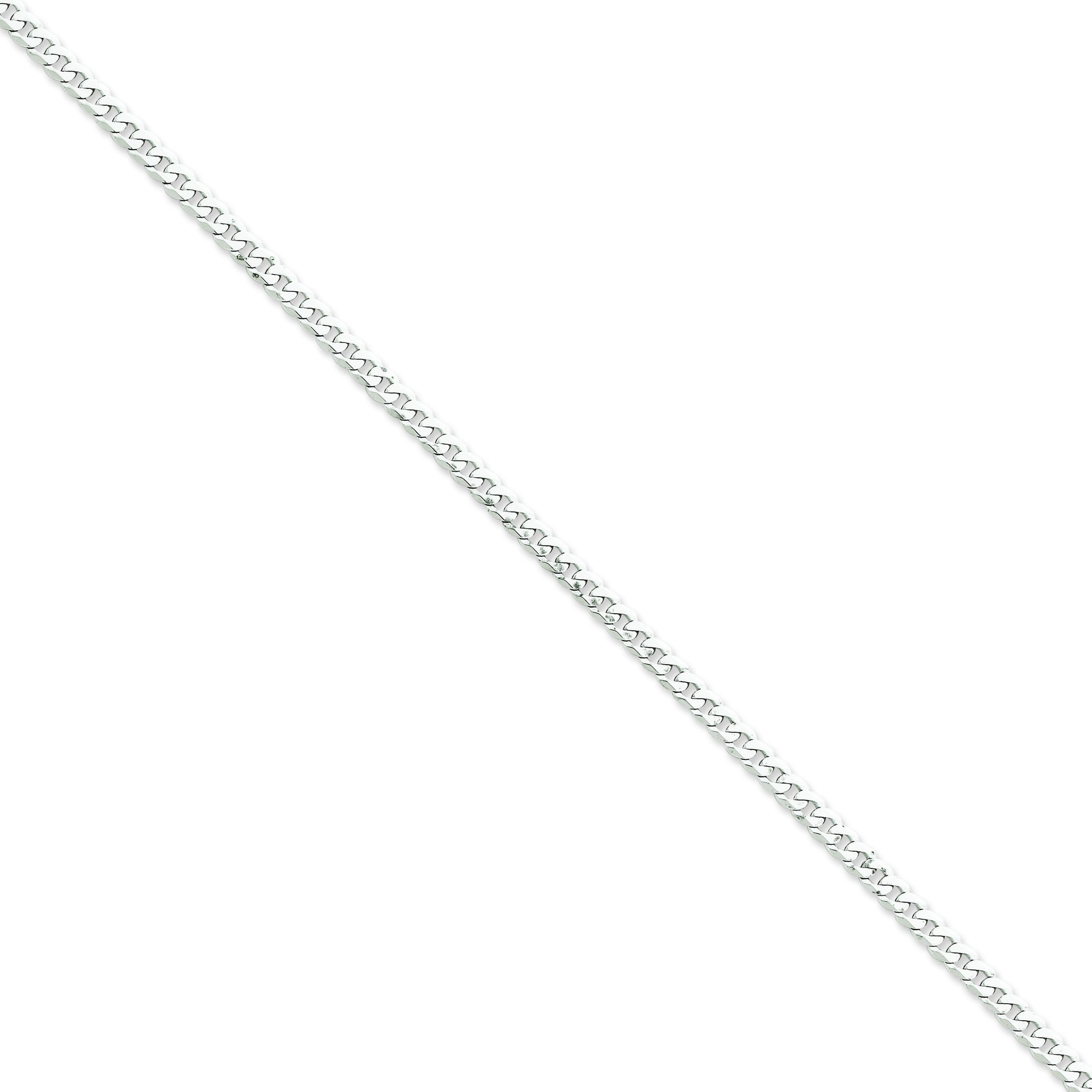 14k Yellow Gold 7 inch 3.90 mm Flat Curb Chain Bracelet