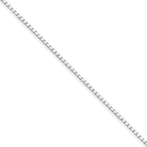 14k White Gold 14 inch 1.10 mm  Box Choker Necklace