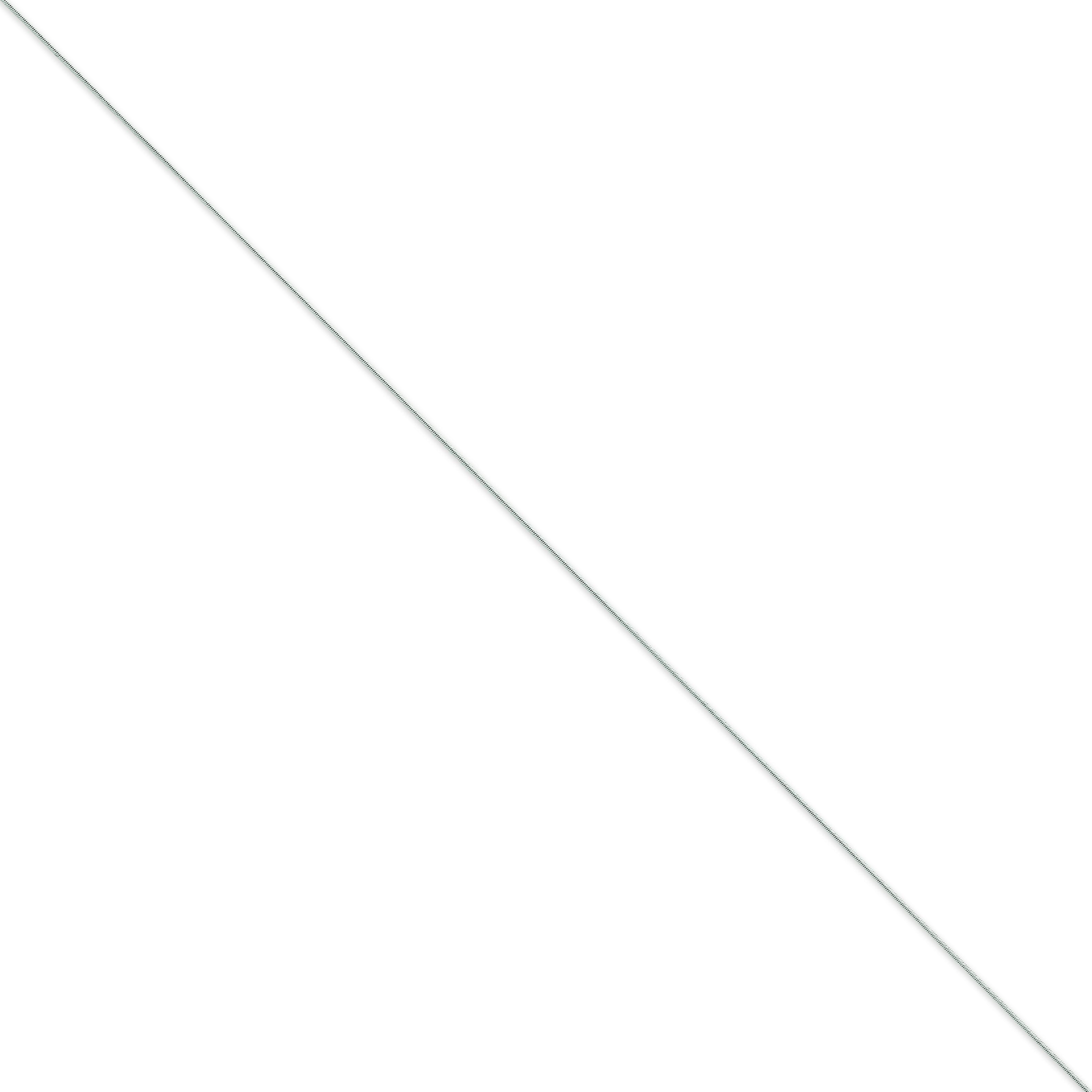 14k White Gold 16 inch 0.80 mm Snake Choker Necklace
