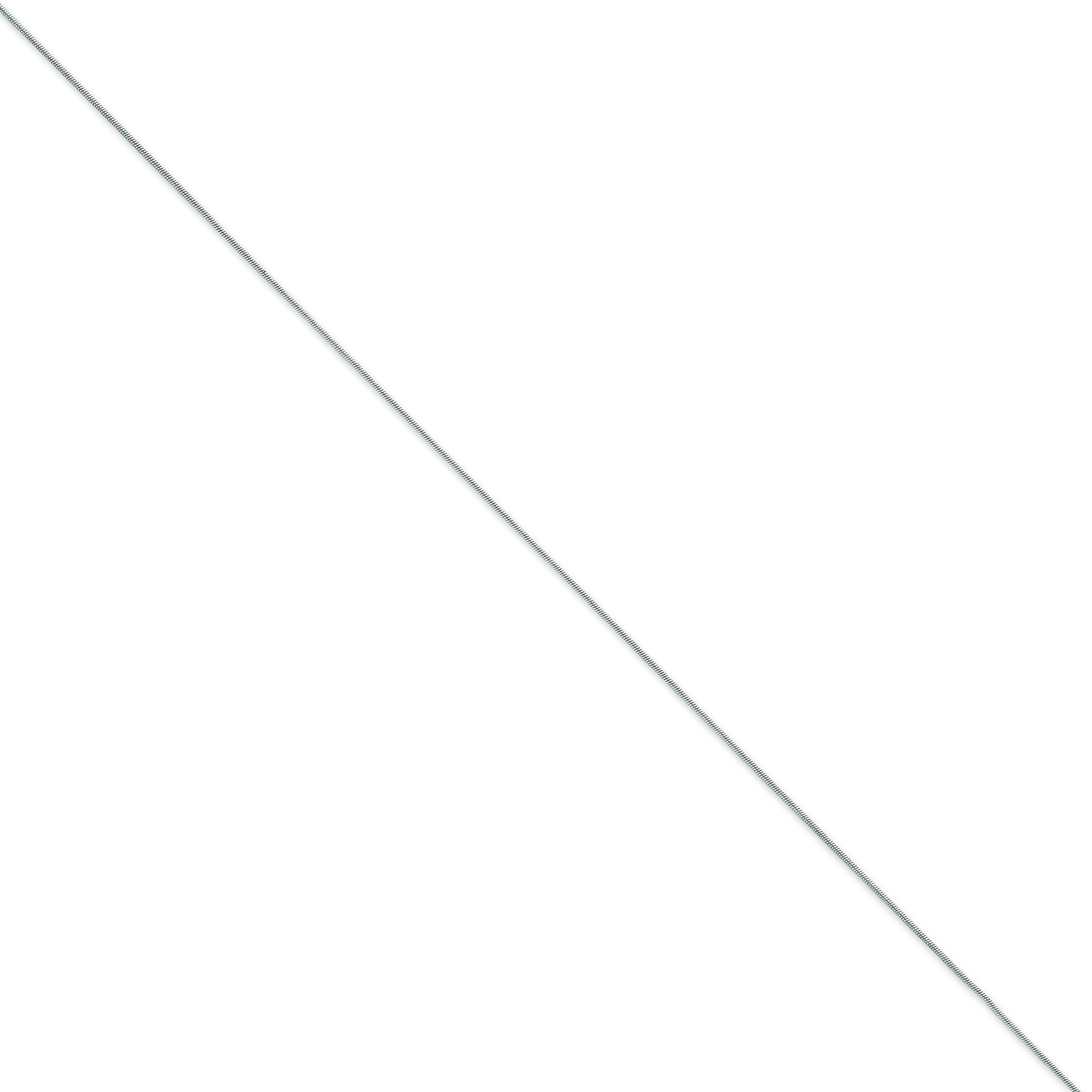 14k White Gold 10 inch 0.80 mm Snake Ankle Bracelet