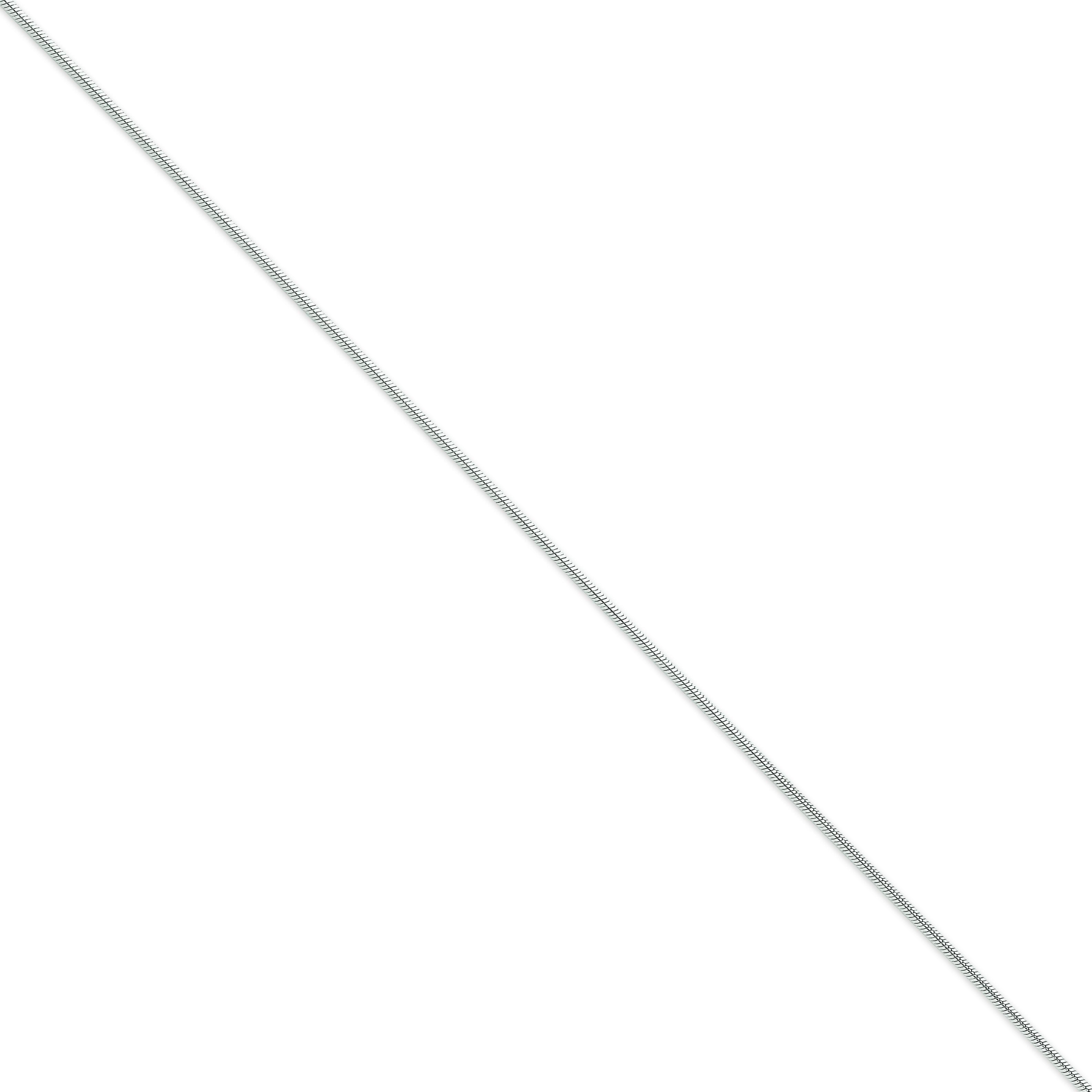 14k White Gold 7 inch 1.60 mm Snake Chain Bracelet