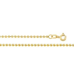 14k Yellow Gold 16 inch 1.75 mm  Bead Choker Necklace