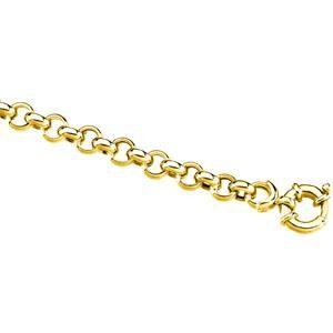 14k Yellow Gold 7 inch 6.50 mm Rolo Chain Bracelet