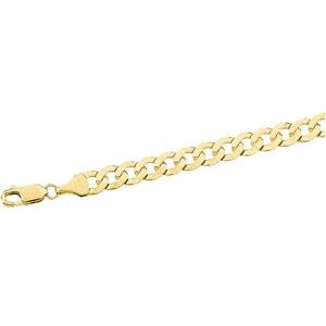14k Yellow Gold 24 inch 6.25 mm  Curb Chain Necklace