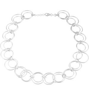 Sterling Silver 8 inch  Circle Fancy Chain Bracelet