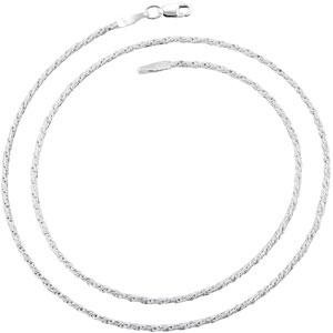 Sterling Silver 7 inch 1.50 mm Twisted Box Chain Bracelet