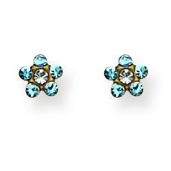 March Crystal Birthstone Earrings in Non Metal