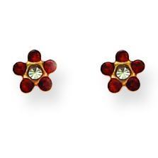 July Crystal Birthstone Earrings in Non Metal