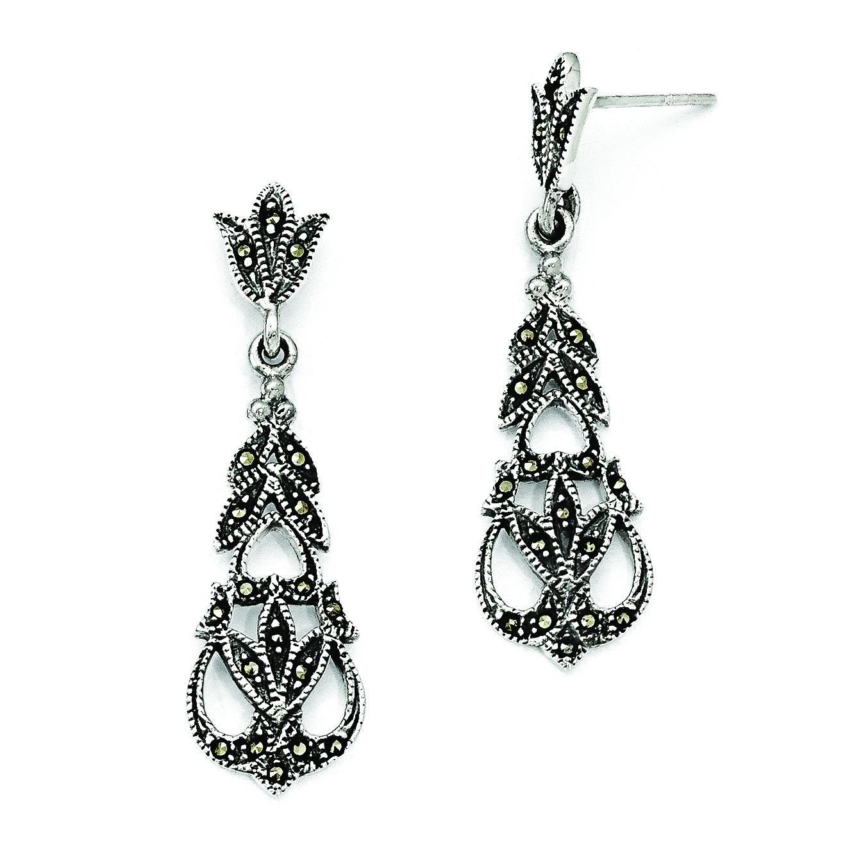 Marcasite Earrings in Sterling Silver