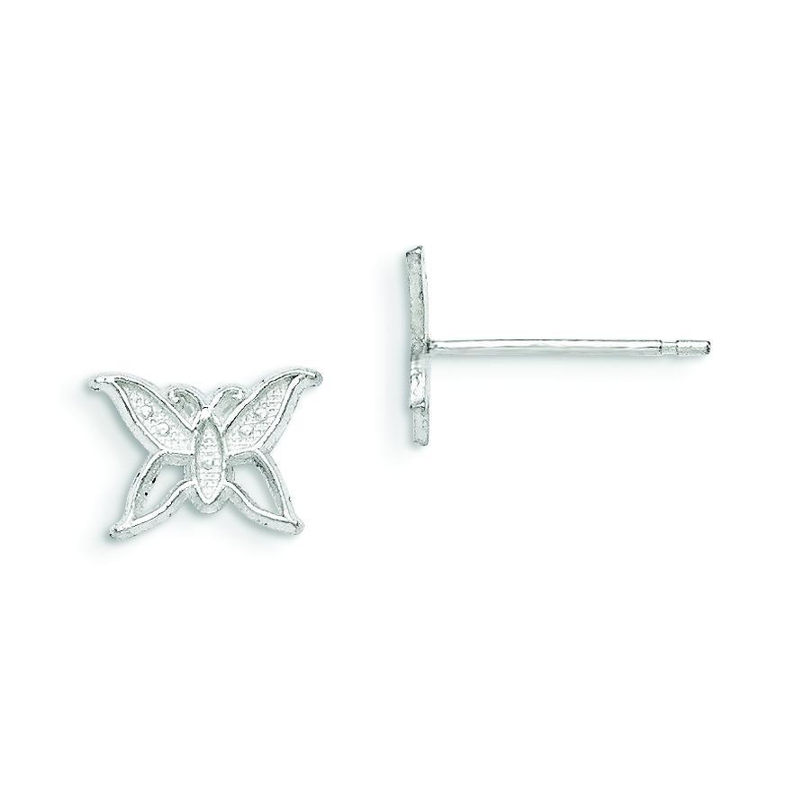 Butterfly Mini Earrings in Sterling Silver
