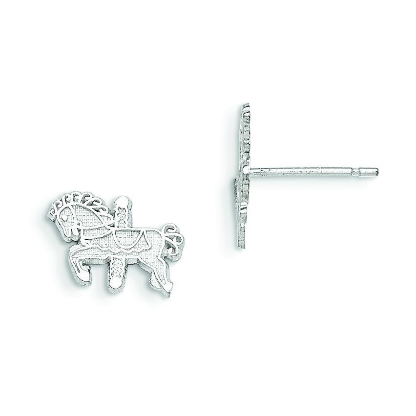 Carousel Horse Mini Earrings in Sterling Silver