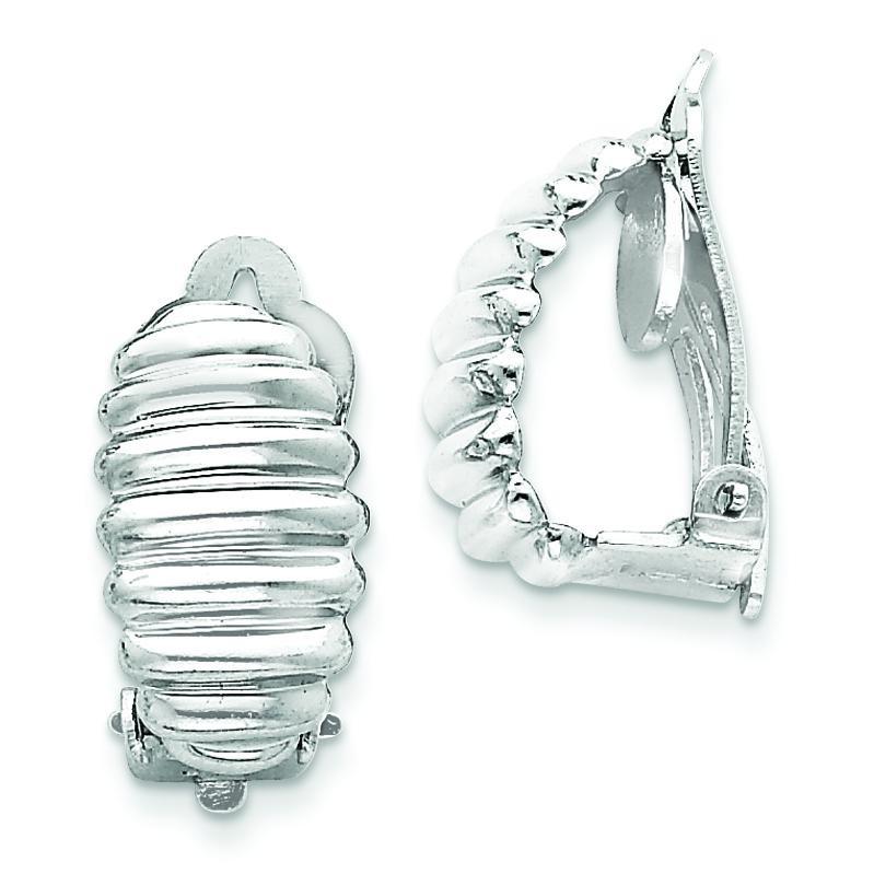 Clip Back Non-pierced Earrings in Sterling Silver