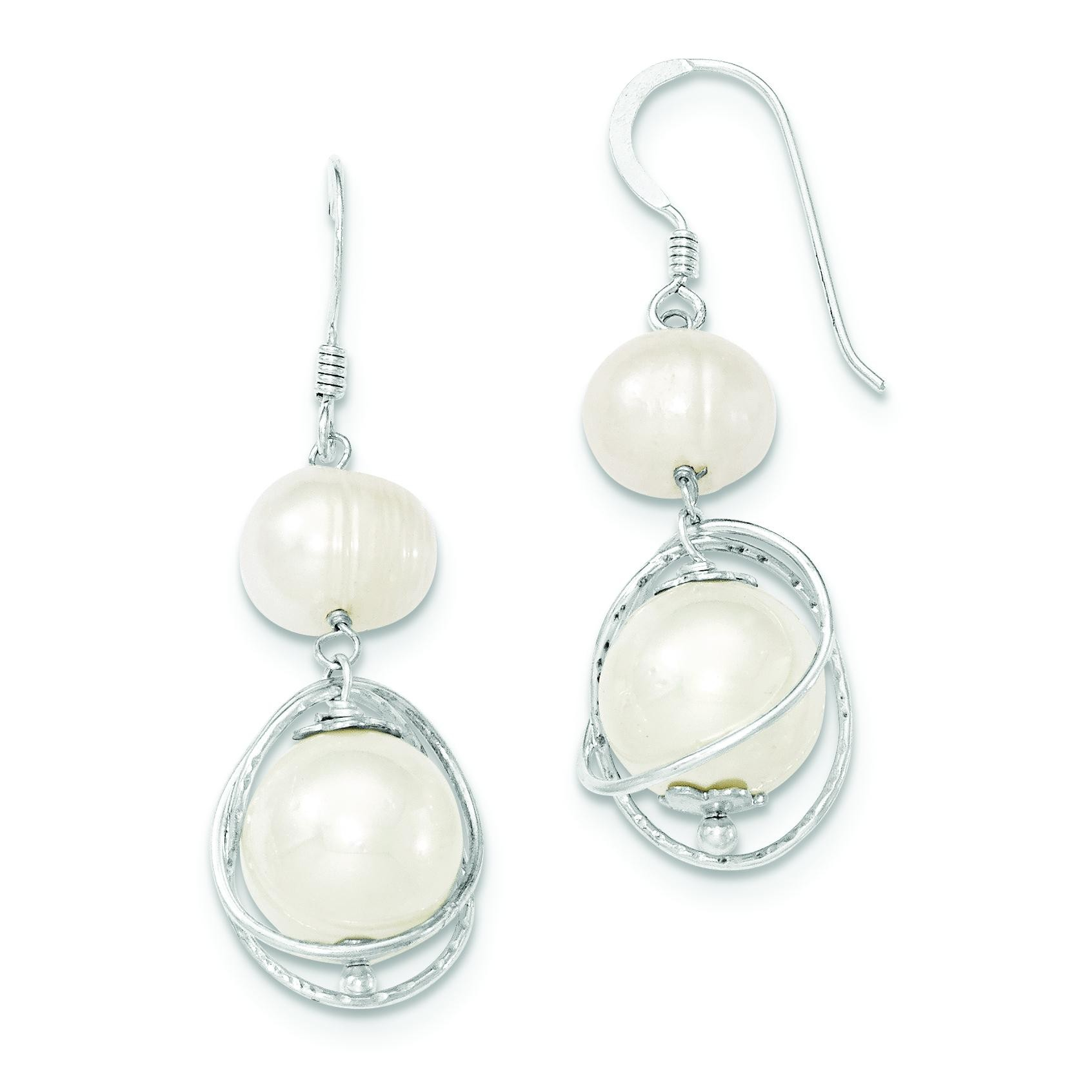Freshwater Cultured Pearl Earrings in Sterling Silver