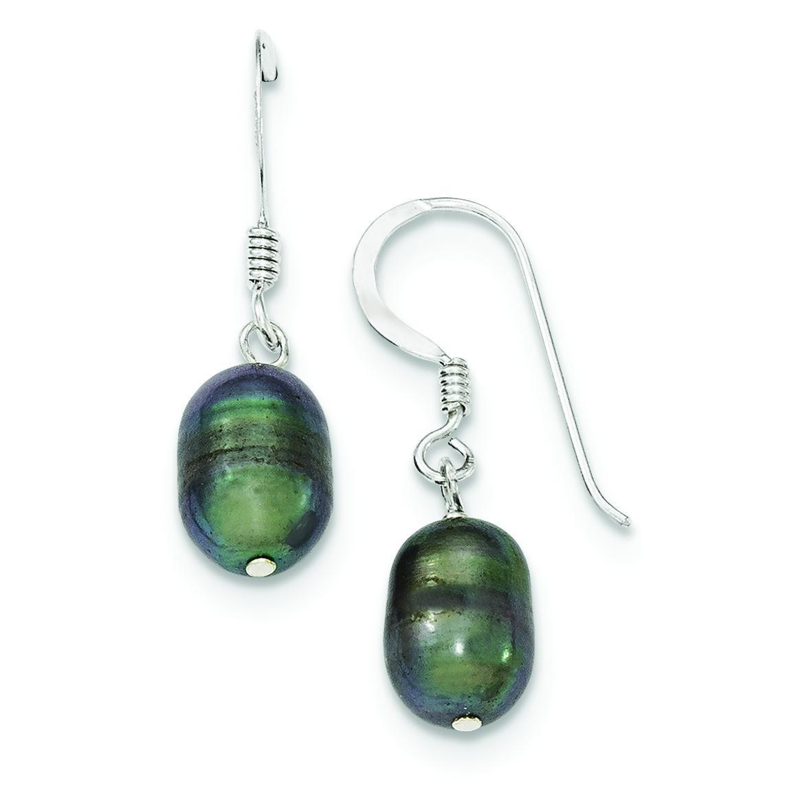 Peacock Freshwater Cultured Pearl Earrings in Sterling Silver