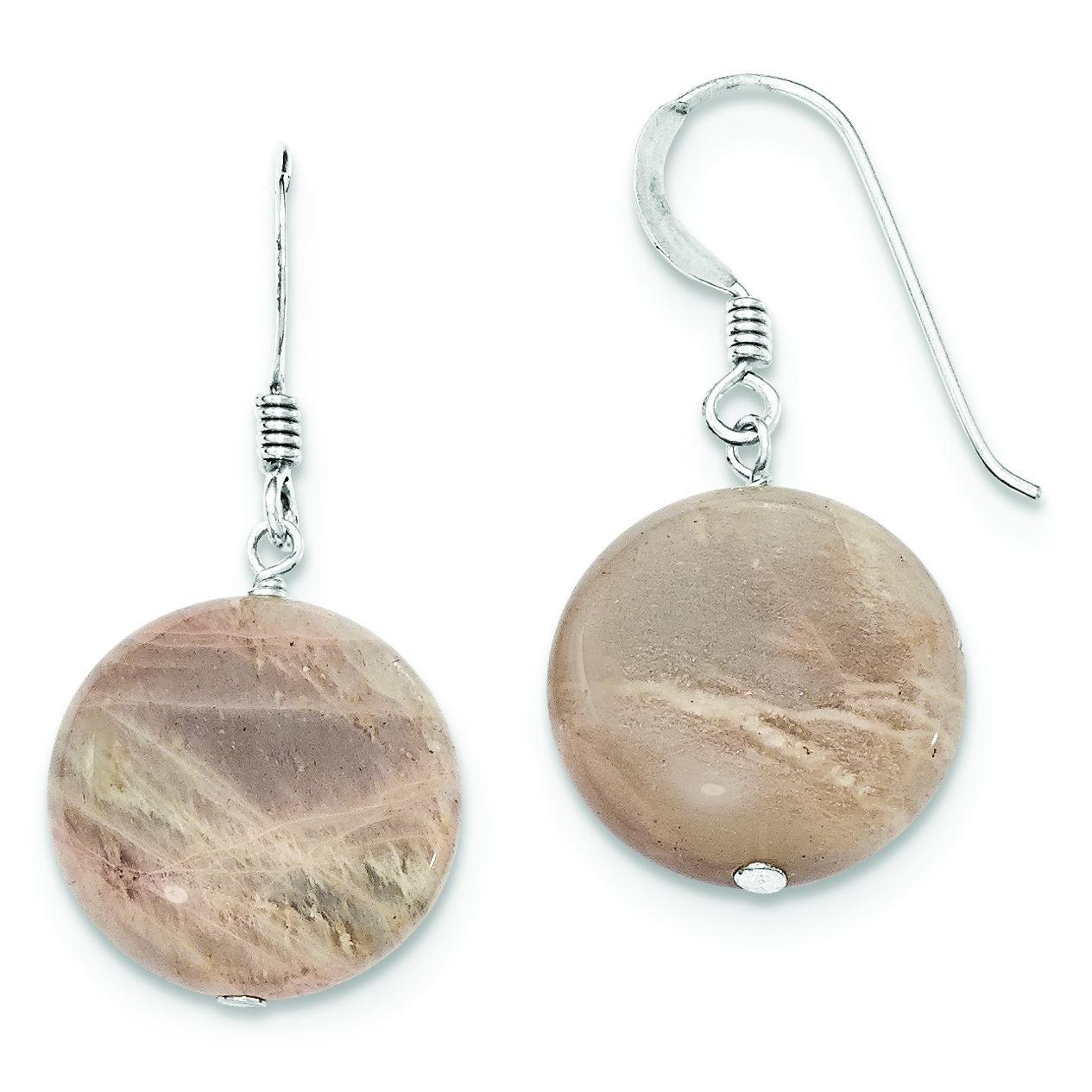 Muscovite Earrings in Sterling Silver