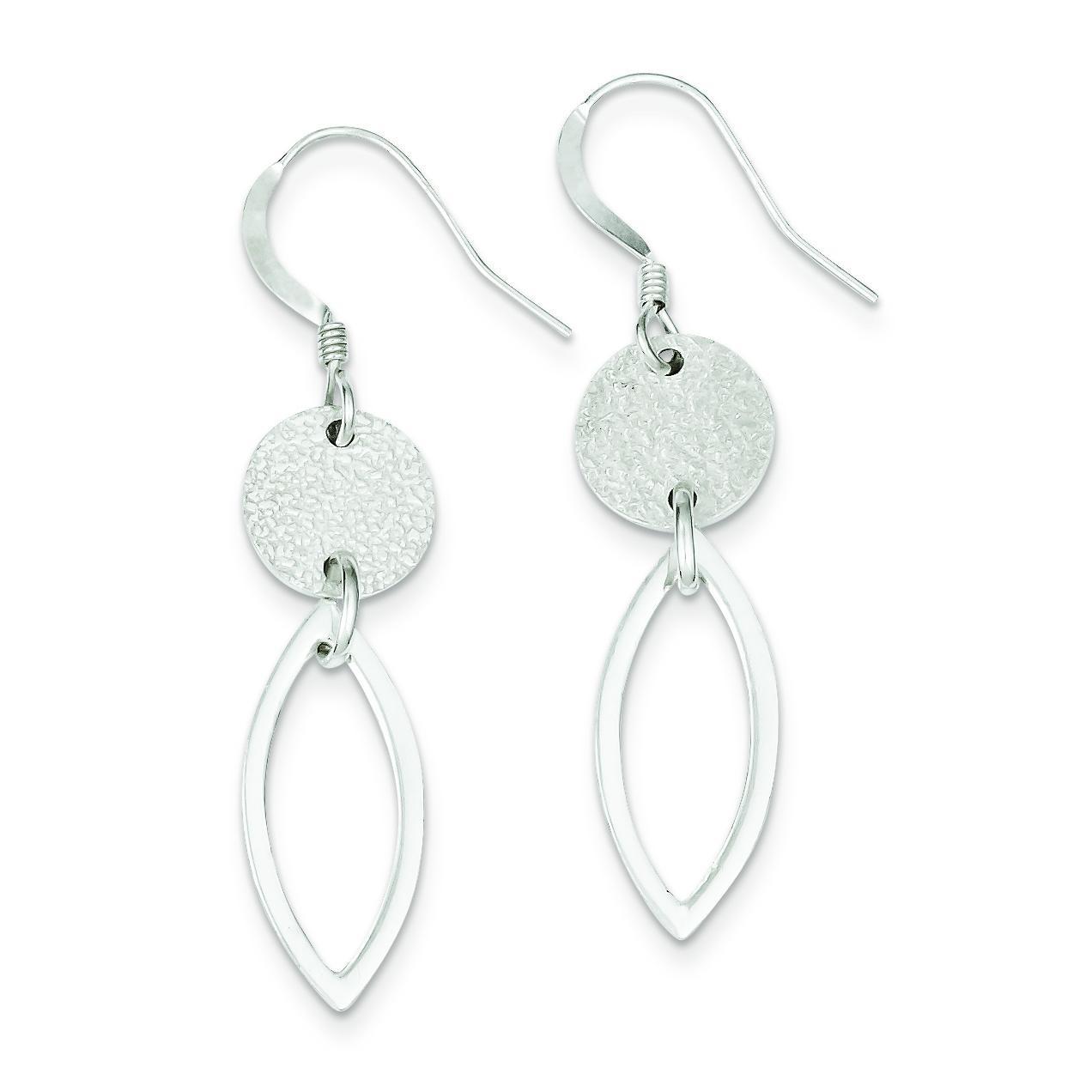 Textured Fancy Dangle Earrings in Sterling Silver
