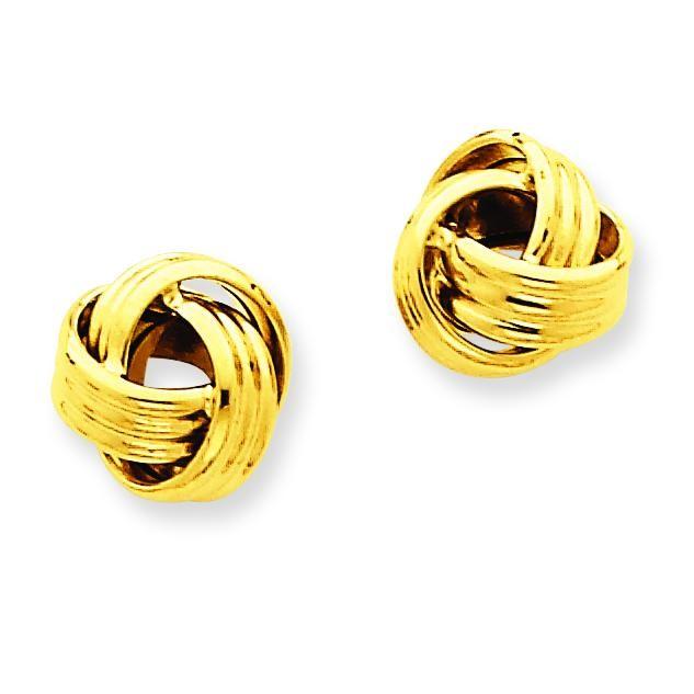 Love Knot Earrings in 14k Yellow Gold