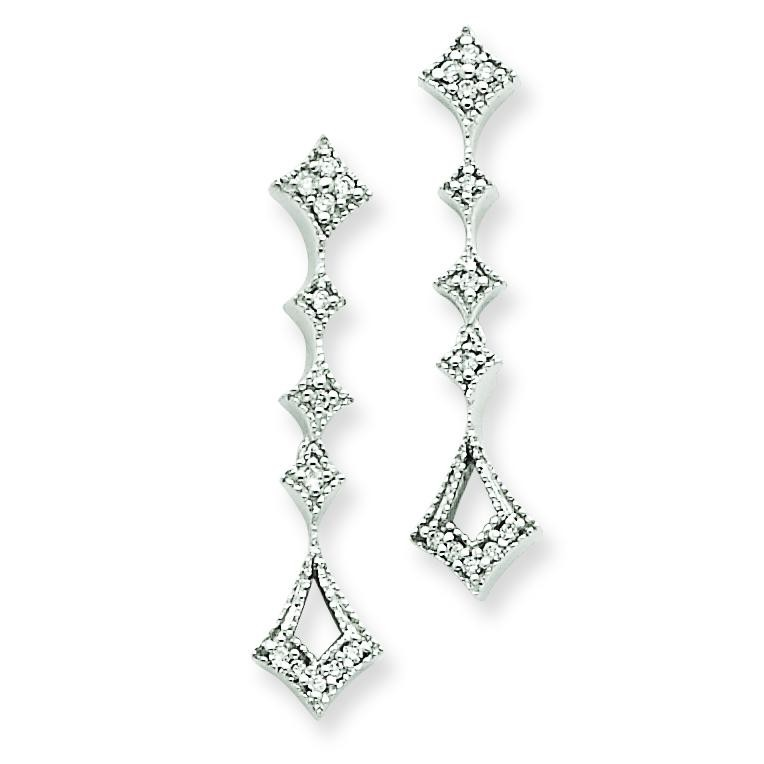 Diamond Vintage Earrings in 14k White Gold (0.1 Ct. tw.) (0.1 Ct. tw.)