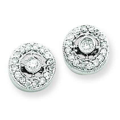 Vintage Diamond Earrings in 14k White Gold (0.21 Ct. tw.) (0.21 Ct. tw.)