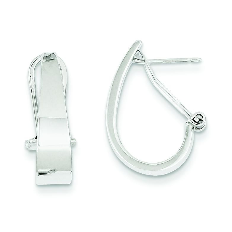 Hoop Earrings in 14k White Gold
