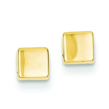 Square Post Ear in 14k Yellow Gold