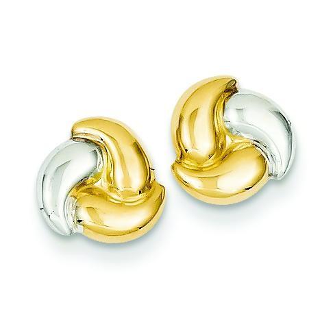 Rho Fancy Post Ear in 14k Yellow Gold