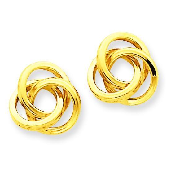 Love Knot Post Earrings in 14k Yellow Gold