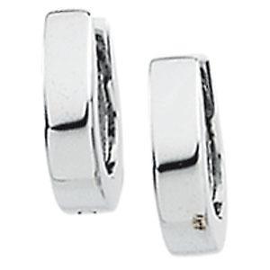 Hinged Earring in 14k White Gold
