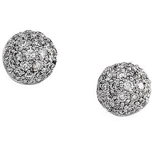 Diamond Earring in 14k White Gold (0.5 Ct. tw.)