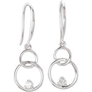 Diamond Earrings in 14k White Gold (0.04 Ct. tw.) (0.04 Ct. tw.)