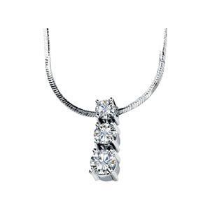 Three Stone Necklace  (0.75 Ct. tw.)