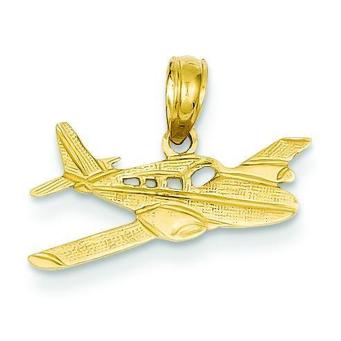 Cessna Plane Pendant in 14k Yellow Gold