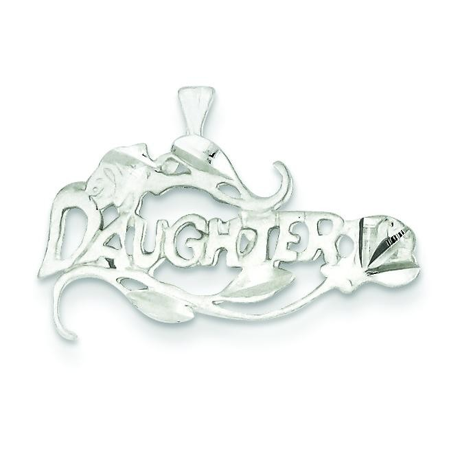 Daughter Charm in Sterling Silver