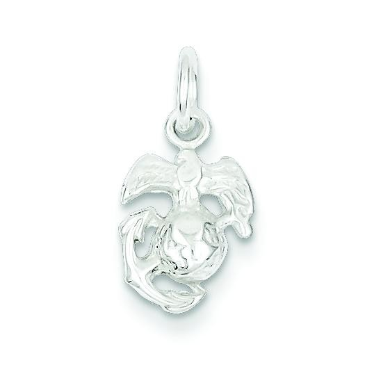 Marine Corps Emblem Charm in Sterling Silver