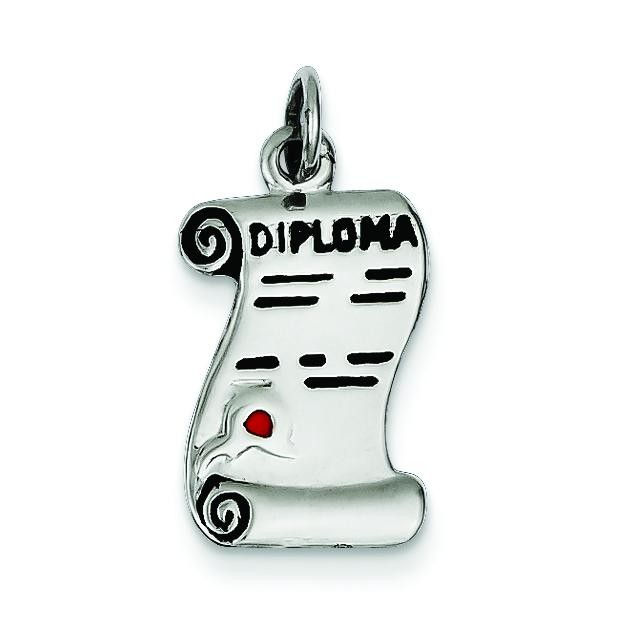 Diploma Charm in Sterling Silver
