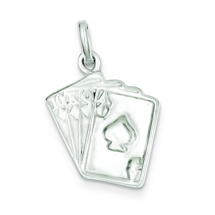 Playing Card Charm in Sterling Silver