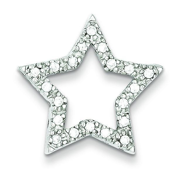 CZ Star Pendant in Sterling Silver
