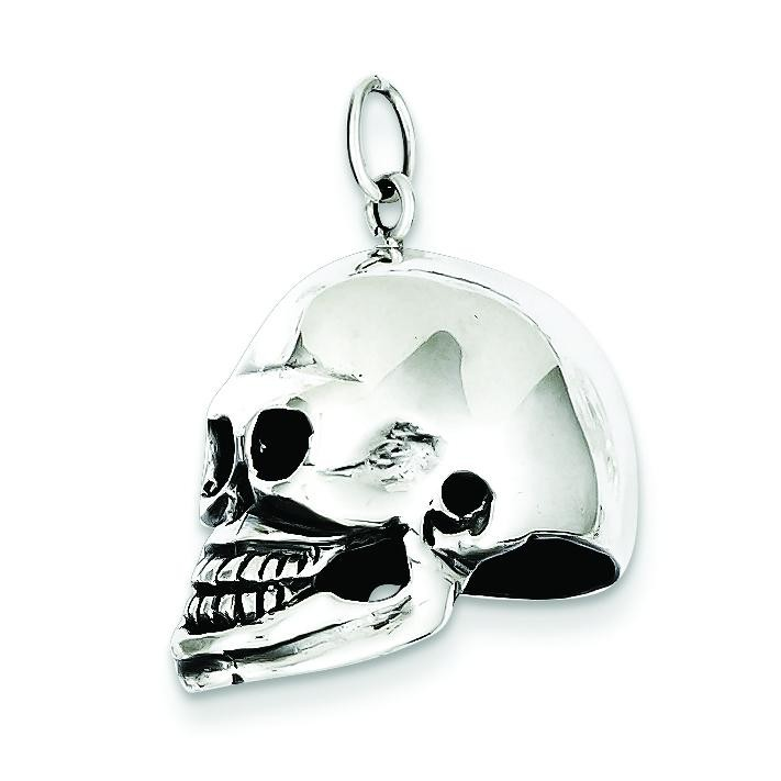 Skull Pendant in Sterling Silver