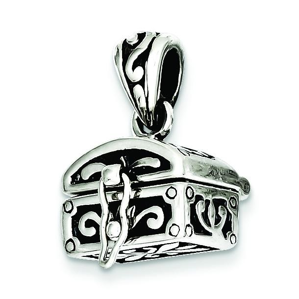 Antiqued Chest Pendant in Sterling Silver