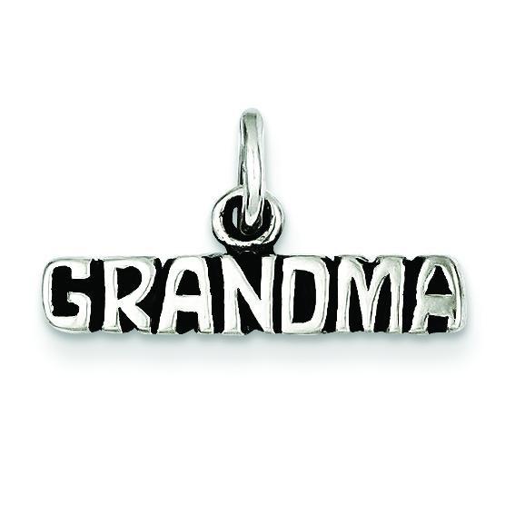 Antiqued Grandma Charm in Sterling Silver