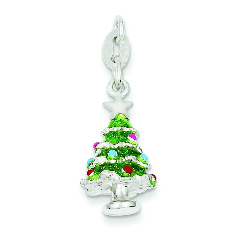 Christmas Tree Charm in Sterling Silver