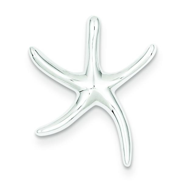 Starfish Slide Pendant in Sterling Silver