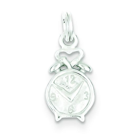 Clock Charm in Sterling Silver