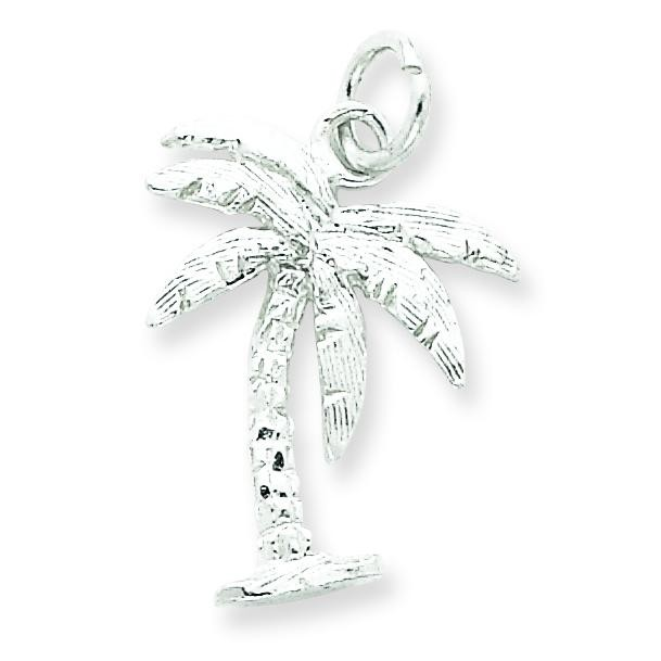 Palm Tree Charm in Sterling Silver