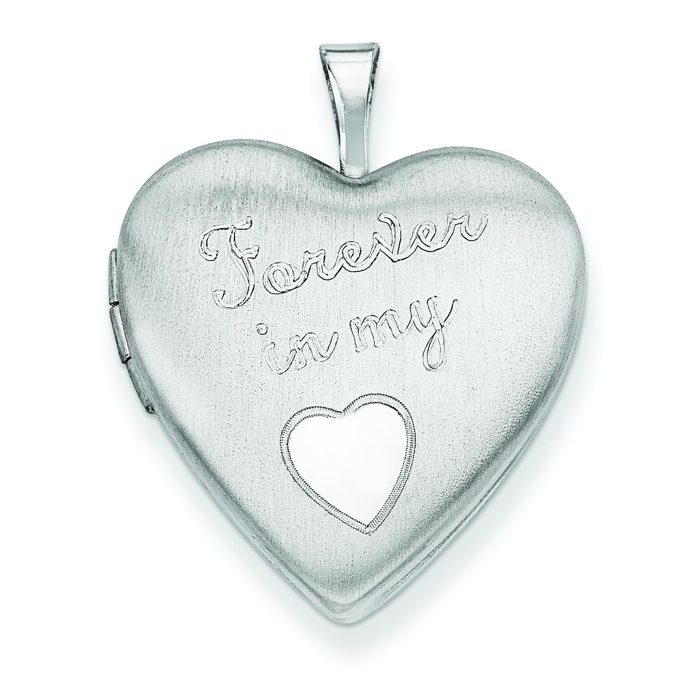 Forever In My Heart Locket in Sterling Silver