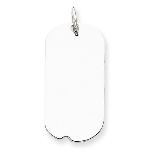 Engraveable Dog Tag Disc Charm in Sterling Silver