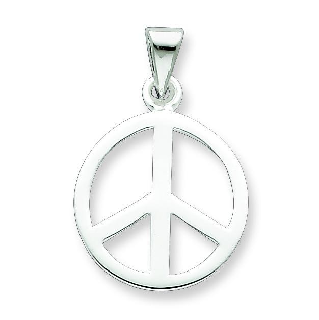 Peace Sign Pendant in Sterling Silver