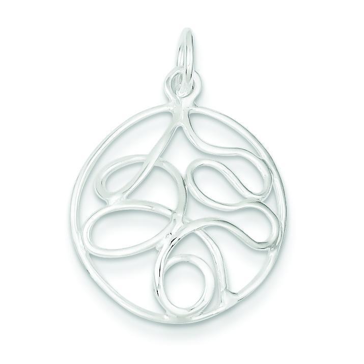 Fancy Pendant in Sterling Silver